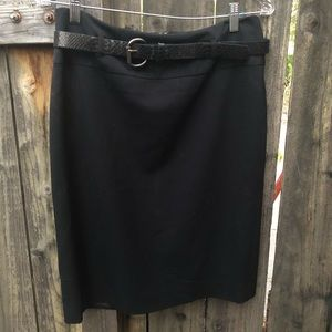 APT 9 Black Pencil Lined Skirt w/ Belt SIZE 8